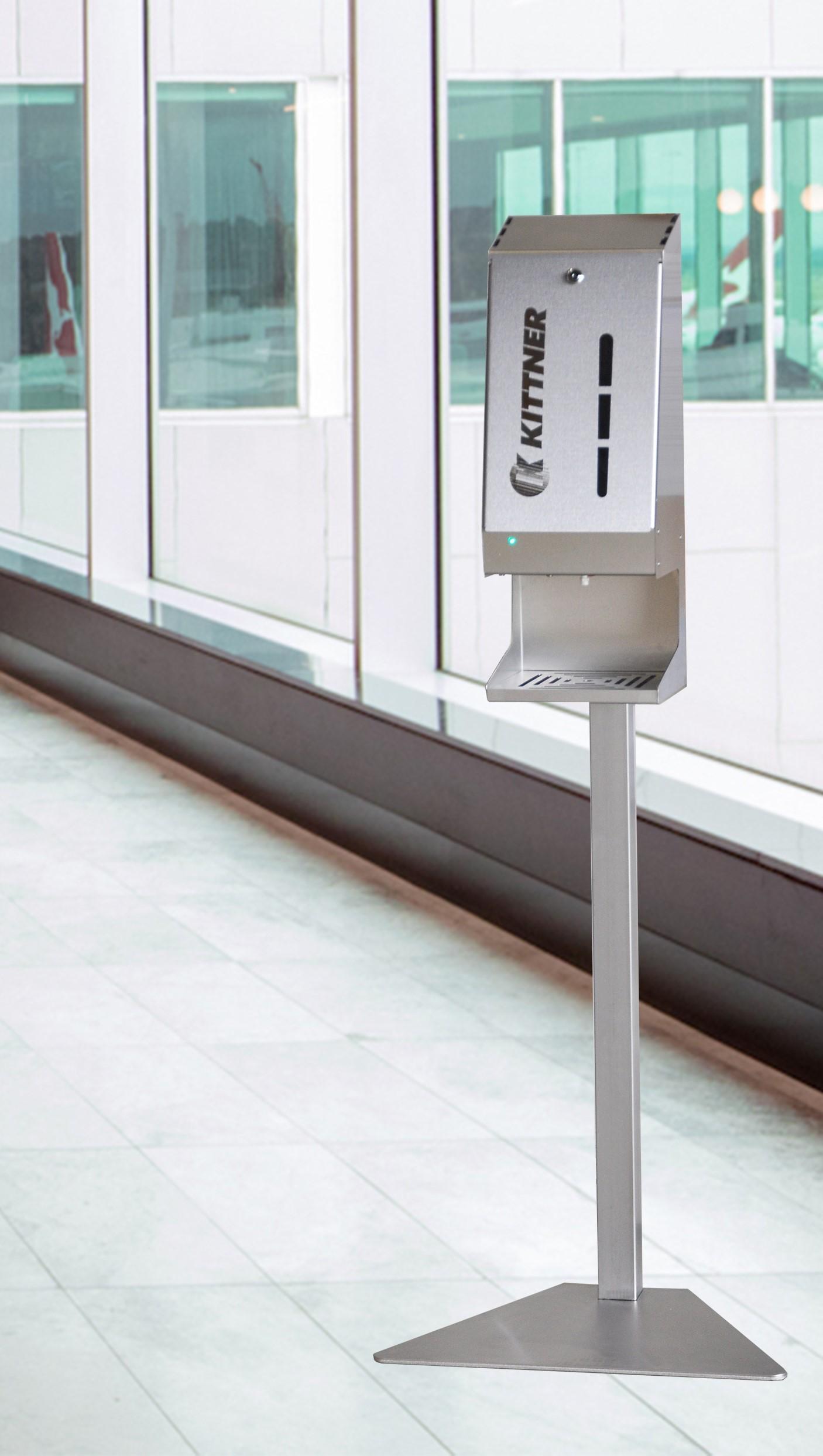 Новый дезинфектор для рук из нержавеющей стали с фотоэлементом